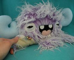 Purple Monstroctopus Minchy by loveandasandwich