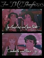 Jim X Jane and Eric X Cinderella - for Britt by OohFire