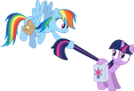 Rainbow Dash and Twilight Sparkle - Awkward by Powerpuncher