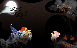 FiM: Halloween Wallpaper by M24Designs