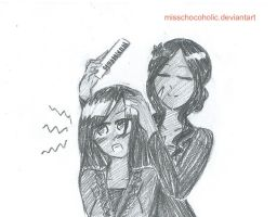 Combing Hair by misschocoholic