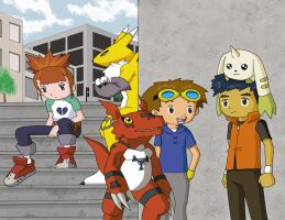 Tamers and Digimon by Ulfin
