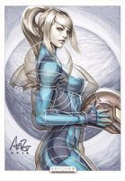 Samus Aran Original Art by Artgerm