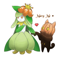 My lilligant - Inaflor And My Pumpkaboo - Ravou by Tzenor