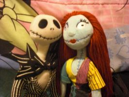 The skeleton and the doll by Mysticalblackangel