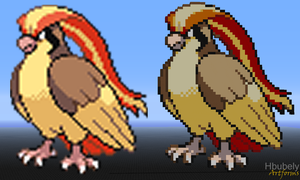 Pidgeot - Minecraft Art by HbubelyArtForms