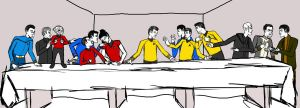 Star Trek Reboot Last Supper by CaptMac