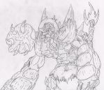 sketch-o-thon: fiery abomination by Vivere-Sectam