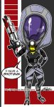Tali has a Shotgun by johnjoseco