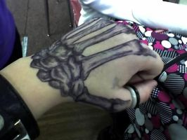 Pen Art: Skeletal Hand by The-Witch-Doctor