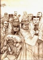 Dick Tracy and Batman's Rogues Gallery by MisterHydesSon