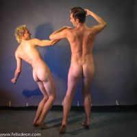 Two nude men from the back by TheMaleNudeStock