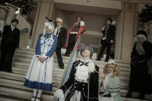 Black Butler Group Photo [-Metrocon 2013-] by SpectralPony