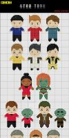 Star Trek XI Mini Cross Stitch Patterns by black-lupin