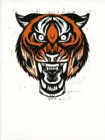 Snarly Animal Head Series: Tiger by AmandaMyers