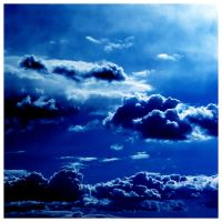 Fluffy Clouds in the Blue Sky by Sulejman