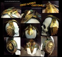 Steampunk Raven Headphones by Edge-Works
