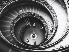 Vatican stairs by Invi51bleAlice