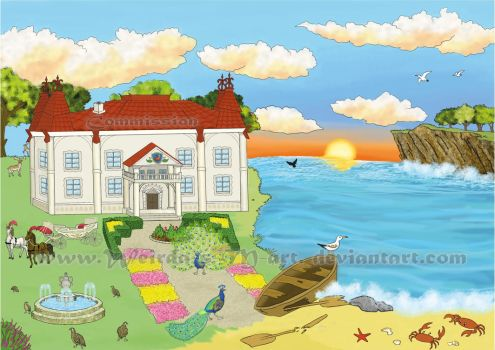 Bg for The Tale of the Fisherman and the Fish 3 by Weirda-s-M-art