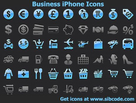 Business iPhone Icons by Ikont
