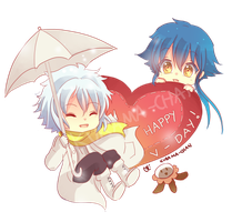 -- Aoba and Clear Valentine's Day -- by Kurama-chan