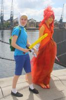 Adventure Time - Finn and Flame Princess by charlottepiref