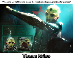 Thane Krios Poster Photomanipulation by HiddenxxBlade