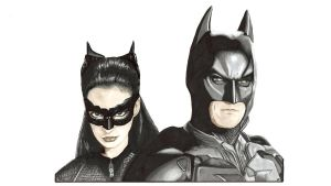 Batman and Catwoman with Video by Sofera
