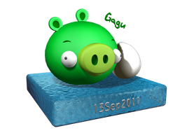 3D Pig and egg by RiverKpocc