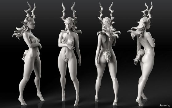 Horned Lady Sculpt by MeganeRid
