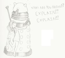 Hugging a Dalek by mousie242