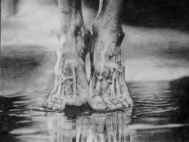 Feet drawing by Caldufer