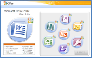 Microsoft office 07 iCon Suite by Jokerjla
