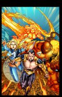 Ultimate FF4 vs X-Men by Ebas Colors by Staminaboy