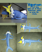 Vaporeon plush by Sparrow-Kaizu