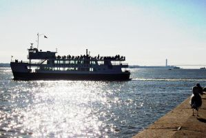 Ellis/Liberty Island ferry - NYC by PureIdiocy