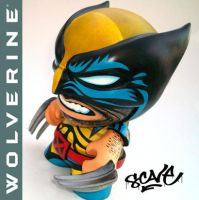 Wolverine Munny by scavenjer