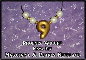 Phoenix Wright - Maya Fey Magatam Necklace by YellerCrakka