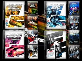 Fast and furious DVD Case Pack by gandiusz