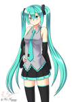 commission - Miku 1 by Red-Romanov