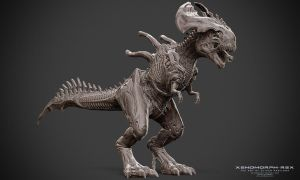 Xenomorph - Rex - Front - Clay Render by Rhythem02
