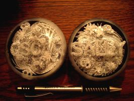 Carved Plex Paperweights by savageworlds