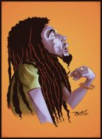 Bob Marley Colored by ImRoGeR