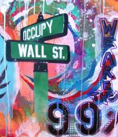 Occupy Wall St cu by abcartattack