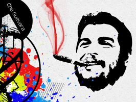Che Guevara - Smoking Graffiti by LorenzoDiFolco