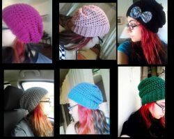 slouchy beanies by pnuewave