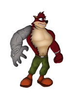 Crunch Bandicoot (CB Characters 04/80) by DENDEROTTO