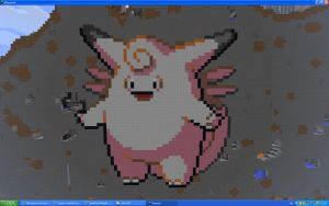 Clefable On Minecraft by Miccopicco