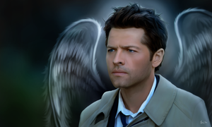 All alone - Castiel by Lasse17