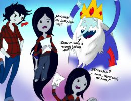 Ice King shows Marceline by Jbaaron